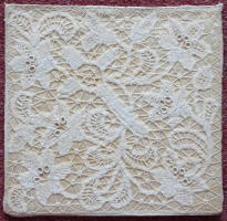 Antique Brussels Lace Pall