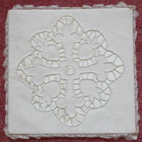 Embroidered White Chalice Pall
