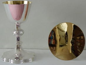 Solid silver Gothic Chalice and Paten