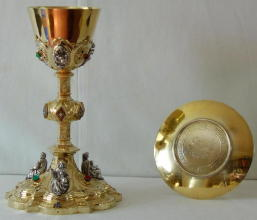 Antique Gothic Chalice and Paten