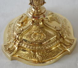 French antique solid silver gilt Baroque Chapel Set