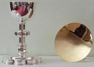 Solid sterling silver Chalice and Paten