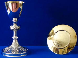 Solid silver French Gothic Chalice