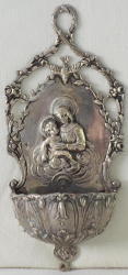 Antique French Silver Holy Water Stoop