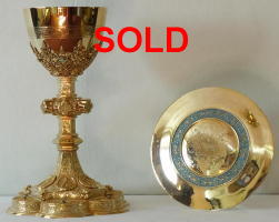French Antique Gothic Chalice