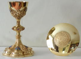 7183 French Antique Gothic Chalice