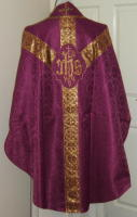Roman Purple Gothic Vestment