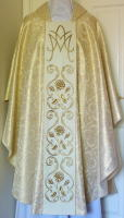 Hand embroidered Marian Gothic Vestment