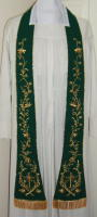Green Preaching Stole