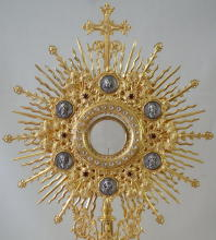 French Antique Sunburst Monstrance